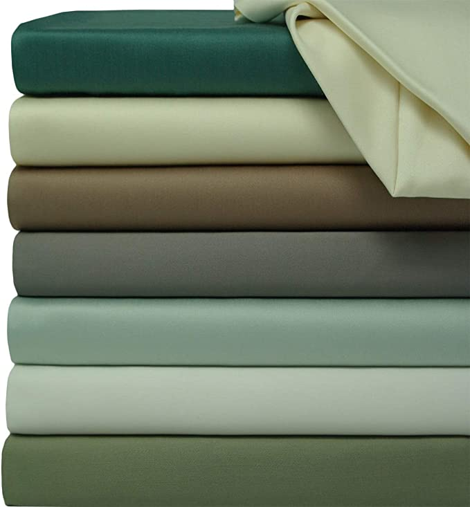 Size King, Sea Color Apripedic 600 TC 100/% Bamboo in Viscose Flat sheet.