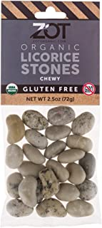 Zot 100% Organic Chewy Licorice Stones, 2.5 Ounce
