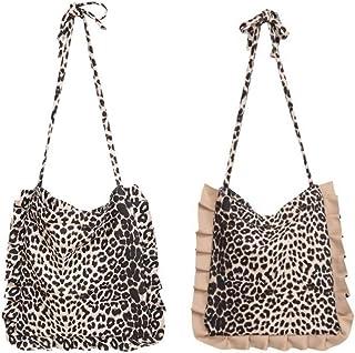 LHKFNU Women Leopard Casual Shoulder Bag Lady Handbag Tote Purse Satchel Crossbody Bags