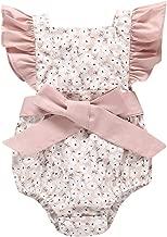 Ropa Bebe Niña Recien Nacido Verano 0 a 3 6 12 18 24 Meses - Bodys de Floral y Lazo Monos para Foto y Diario