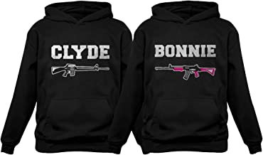 Tstars Bonnie & Clyde for Him & Her Matching Couples Hoodies