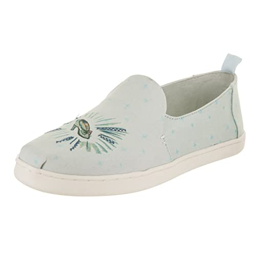 TOMS Snow White Deconstructed Alpargata Womens Slip On