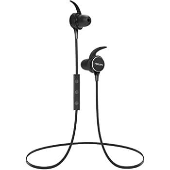 Amazon Com Philips Upbeat Shb3595 Wireless Headphones With Up To 6 Hours Of Playtime In Line Mic Black Electronics