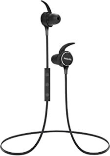 $29 » PHILIPS Wireless Earbuds Bluetooth Headphones, in Ear Headset Sport Stereo Earphone, Powerful Sound, IPX4 Waterproof with Mic