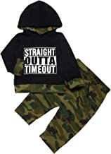 Toddler Infant Baby Boy Clothes Letter Print Long Sleeve Hoodie Camouflage Tops Pants