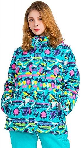 GZ Vestes D'Extérieur Dames De Placage Professionnelles, Vêtements De Ski, Dames De Combinaison De Neige Chaudes Imperméables Et épaissies