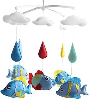 [Les poissons d'aquarium] infantile Mobile musical, Nursery Mobile, bébé mobile