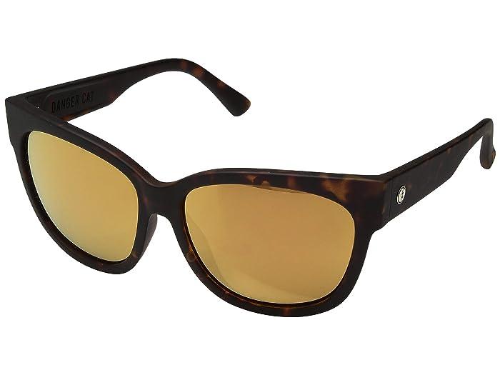 Danger Cat (Matte Tortoise/Champagne Chrome Gradient) Fashion Sunglasses