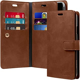 Goospery Mansoor Wallet for Apple iPhone Xs Max Case (2018) Double Sided Card Holder Flip Cover (Brown) IPXSP-Man-BRN