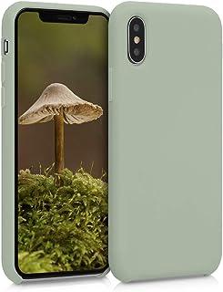 kwmobile Hülle kompatibel mit Apple iPhone XS   Handyhülle gummiert   Handy Case in Graugrün