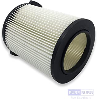 PUREBURG 1-Pack Vac Filter Compatible with Ridgid VF4000 72947 Wet/Dry 5 to 20 Gal Shop Vac Also fits Husky 6-9 Gal WD5500 WD0671 RV2400A RV2600B WD06700 WD09450