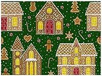 大人のためのダークグリーンのパズルの500ピースジグソーパズルブラウンケーキ子供大人のための500ピースジグソーパズル家の装飾