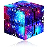 YALAMI Infinity Cube Fidget Toy for Kids and Adults, Mini Stress Relieving Fidget Cube for Teens Boys/ Girls, Unique Anxiety Relief Sensory Toys for Autistic Children ADHD (Galaxy)