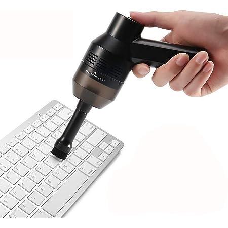 Limpiador de Teclado, Inalámbrico Potente y Portátil Mini Limpiador de Vacío Hoover Para PC Teclado, Teclado Mecánico Para Juegos, Ordenador Portátil, ...