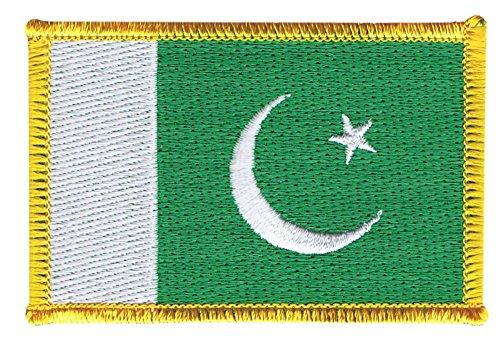 Flaggen Aufnäher Pakistan Fahne Patch + gratis Aufkleber, Flaggenfritze®