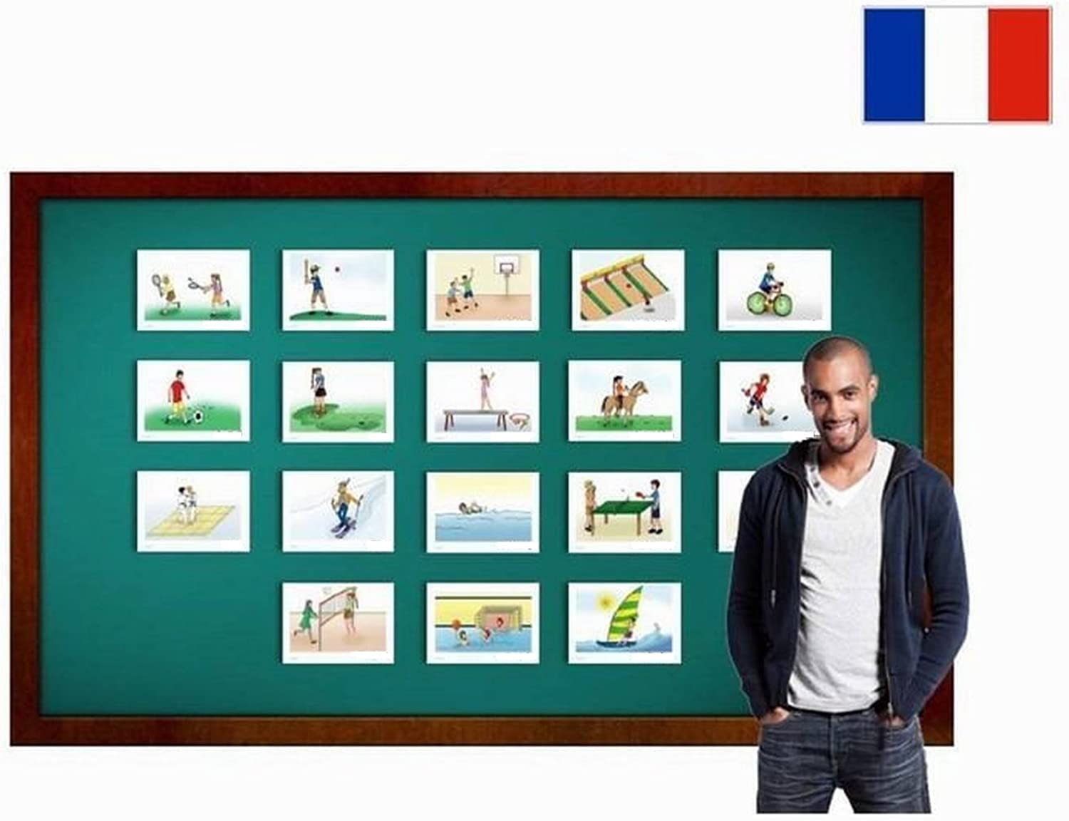 Fiches de vocabulaire  Sports  Flashcards in French for Kids Beginners and Adults