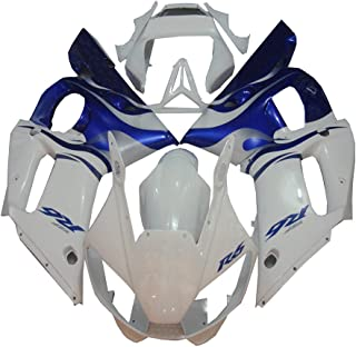 NT FAIRING New Blue White Injection Mold Fairing Fit for Yamaha 1998-2002 YZF R6 1999 2000 2001 Painted Kit ABS Plastic Motorcycle Bodywork Aftermarket