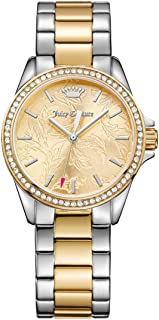 Juicy Couture Women's Laguna Quartz Watch with Stainless-Steel Strap, Two Tone, 17 (Model: 1901521)