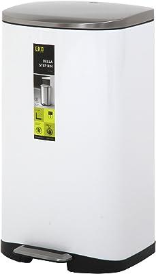 不二貿易(Fujiboeki) キューブステップビン ホワイト 35L 41085
