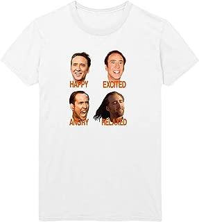 Nicolas Cage Mood Faces Con Meme Air D22 Unisex Adult Shirt T-Shirt Tshirt Gift Christmas Him Her