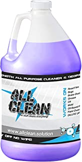 Industrial Strength All Purpose Cleaner degreaser. Cleans Wheels, Engines, Mold, Mildew and Algae Stains, Bugs and Tar, Muddy ORV's, Greasy Kitchens, RV Black Streaks. This Stuff Cleans Everything!