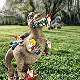 24cm Dinosaurier Essen Zwerge Gartenstatuen, Gartenzwerg Statue, Outdoor Garten Kunst Figur Dekor, Garten Skulptur für Patio, Rasen, Hof Dekoration, Einweihungsparty Geschenk