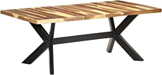 Festnight Table de Salle à Manger en Bois de Style Industriel 200x100x75 cm