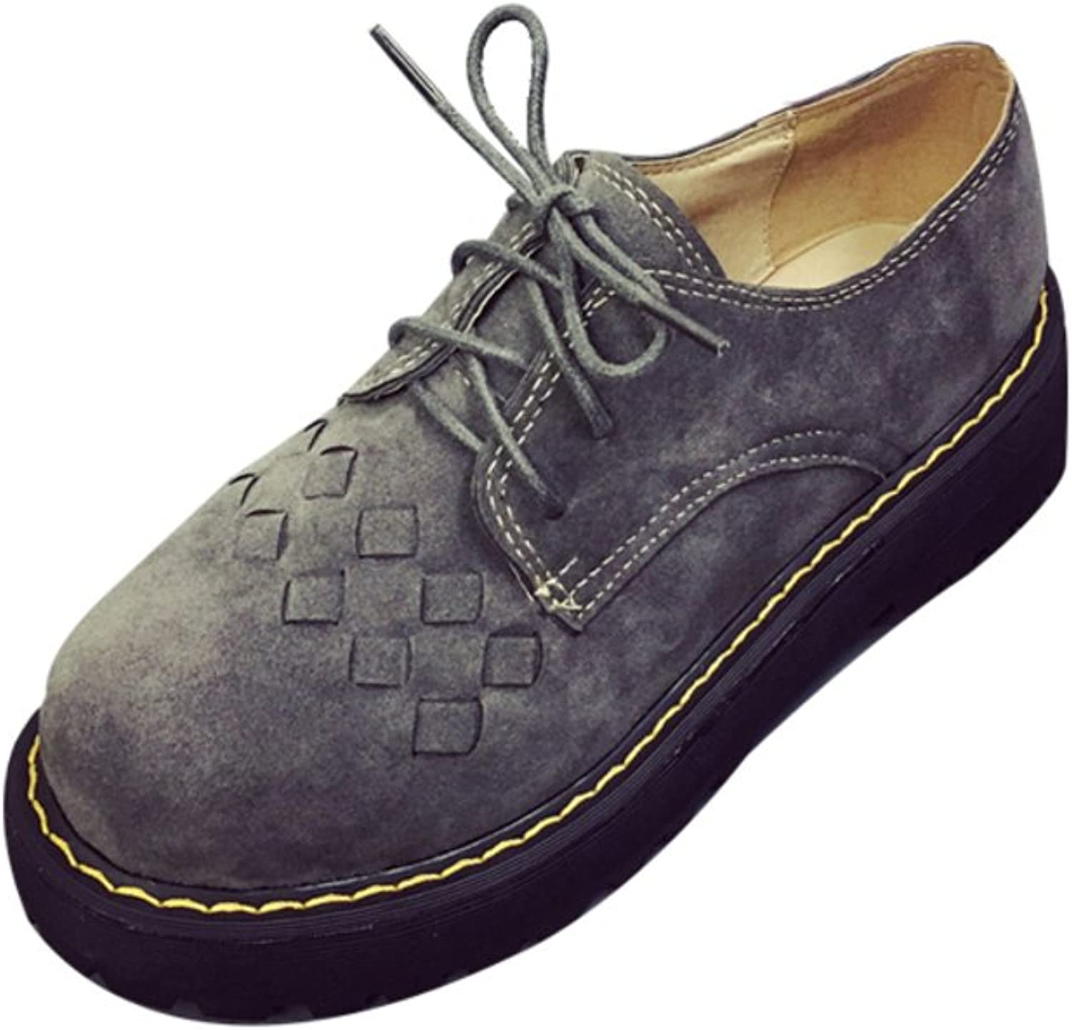 Huhuj Low retro shoes With thick-soled platform shoes Oxford shoes