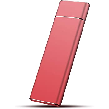 MagicA - Disco Duro Externo portátil, Ultra Delgado HDD USB 3.1 para Mac, PC, PS4 y Xbox Rosso 2 TB: Amazon.es: Electrónica