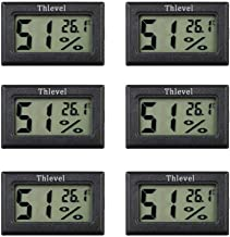 Thlevel Mini-lcd-thermometer, 6 stuks, digitale thermometer voor temperatuur en luchtvochtigheid, voor koelkast, aquarium,...