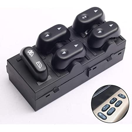 MUCO 5L1Z-14529-AA Front Left Driver Side Master Control Power Window Switch for 2003-2008 Ford Crown Victoria; 2004-2008 Ford F-150 F150; 2003-2006 Ford Expedition
