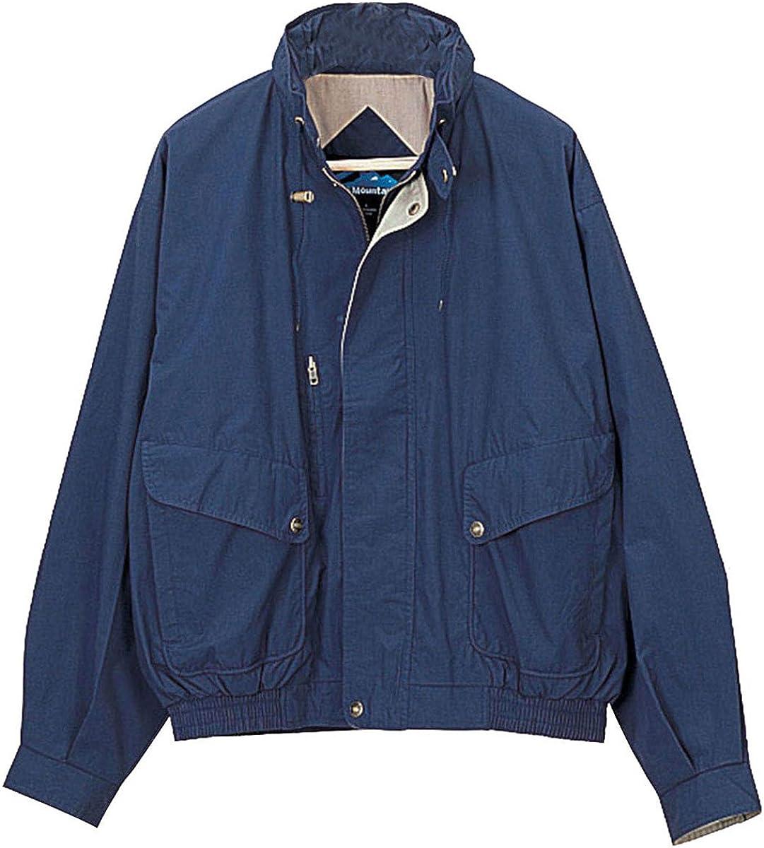 Tri-Mountain Men's Water Resistant Poplin Jacket, Navy / Khaki XXX-Large