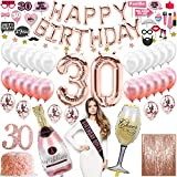 30th Birthday Decorations For Her 30th Birthday Balloons, 30th Birthday Cake Topper, Happy 30th Birthday Decorations, 30th Birthday Banner, Dirty Thirty Decorations For Her 1990 Talk Thirty To Me Sash