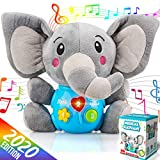 Insnug Plush Elephant Music Baby Toys 0 3 6 9 12 Months, Cute Stuffed Animal Light Up Baby Toys Newborn Baby Musical Toys for Infant Babies Boys & Girls Toddlers 0 to 36 Months