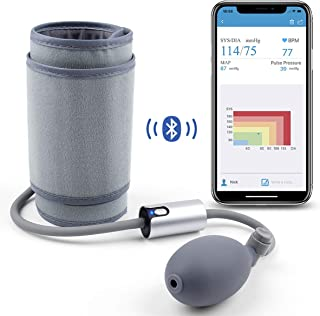 Wellue AirBP Portable Blood Pressure Monitor Upper Arm Large Cuff with Smart APP, Multi-Users, BP Monitor FDA Approved, Medical Accurate, Manual BP Meter for Home Use, Professional Health Monitoring