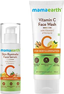 Mamaearth Vitamin C Radiance Combo(Vitamin C Face Wash 100ml + Face Serum 30g)