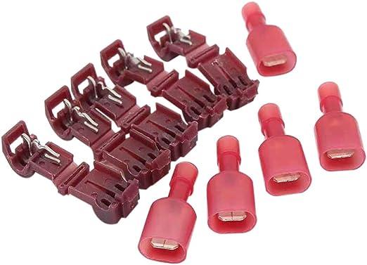 60pcs//Set Lock Wire Connectors Quick Splice Terminals Crimp Electrical Fitting