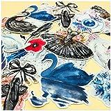 ZWANG Paquete de calcomanías para Cuentas de Mano, Zapatos de Ballet de Cisne Blanco y Negro de ensueño, 26 calcomanías para Cuentas Iniciales, decoración