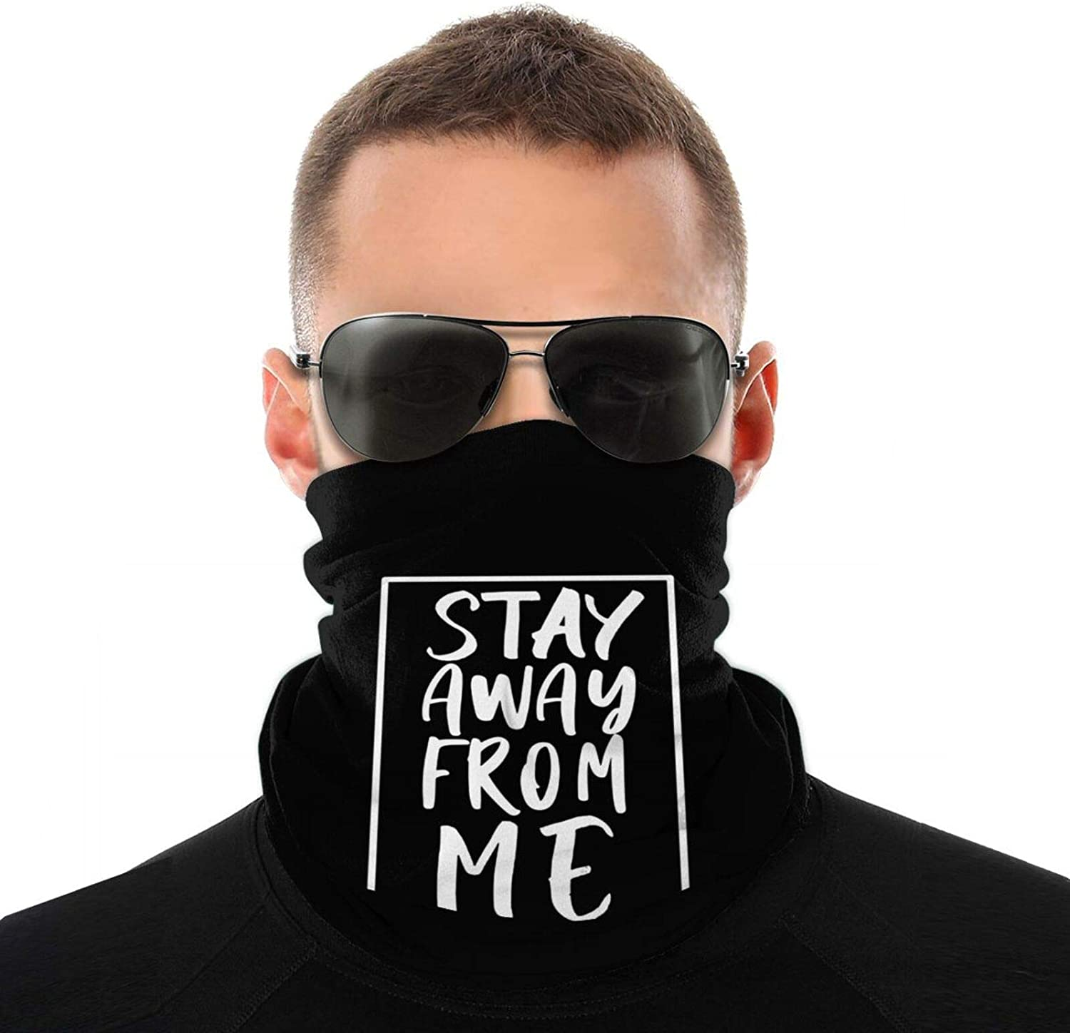 Unisex Winter Stay Away From Me Neck Gaiter Warmer, Soft Face Mask Scarf, Headband For Cold Weather Skiing Cycling Outdoor Sports Gift For Men Women