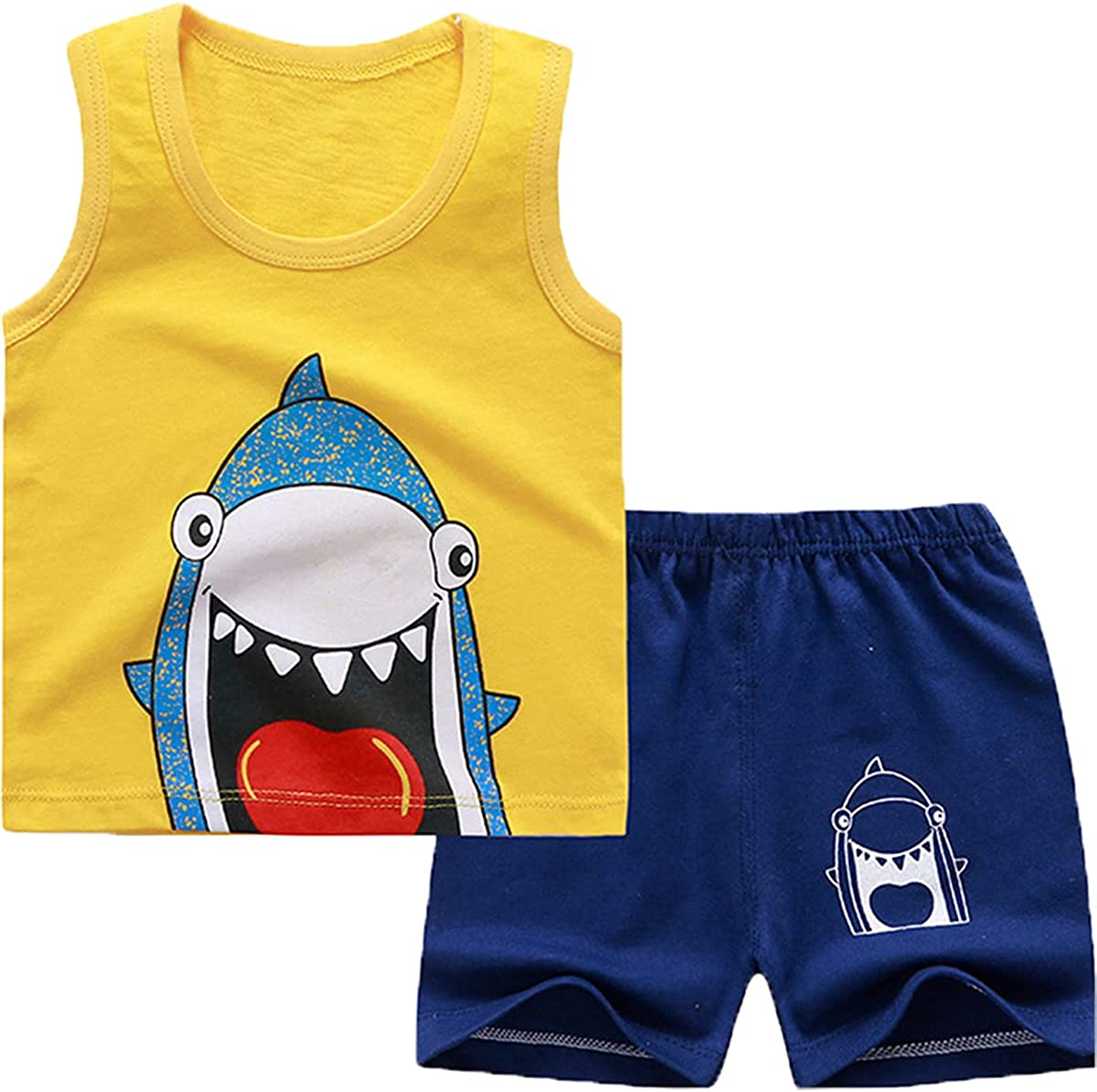 Toddler Baby Boys Clothes Shorts Sets Cotton Short Sleeve T-Shirt Tops Infant Summer Outfit Set 2Pcs Boys Clothing