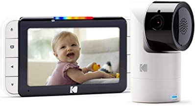 KODAK Cherish C525 Video Baby Monitor with Mobile App - 5 inch HD Screen - Hi-res Baby Camera with Remote Tilt, Pan and Zoom, Two-Way Audio, Night-Vision, Long Range - WiFi Indoor Camera