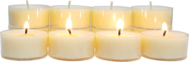 CandleNScent Tea Lights Candles Canola Oil Natural Paraffin Free Clear Cup Tealights - 5 Hour   Poured in USA   Pack of 100
