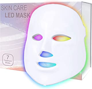 LED Face Mask light therapy - 7 Color Inclued Red Light Therapy- Facial Skin Care Mask SPA Facial Equipment Beauty Salon E...