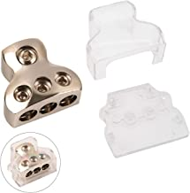 Power Distribution Block, COROTC 0/2/4 Gauge in 4/8/10 Gauge Out, Auto Car Audio Splitter, 1 in 3 Out