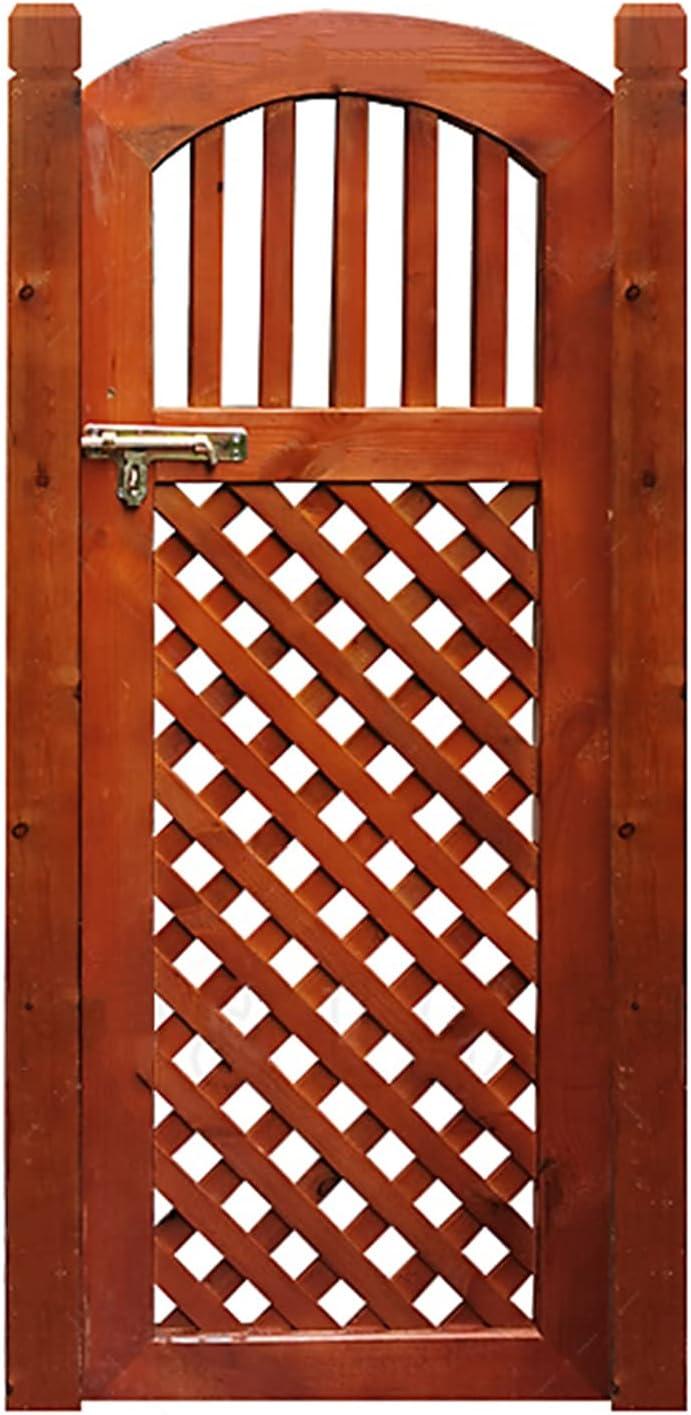 QIANDA Puertas Batientes De Bisagra Cafe,Exterior Madera Maciza Puerta De Partición Espesado Poste De La Meta por Patio Porche Puerta,Marrón,Tamaño Personalizado (Color : A, Size : 70x80cm)