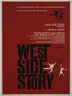 DOAQTE West Side Story Vintage Movie Poster Wall Art Poster Canvas Schilderij Foto's Home Decor Prints Op De Muur -20X28 I...