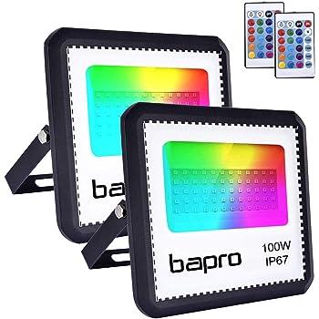 2X100W RGB Foco LED con Control Remoto, Foco Proyector Exteriores ...