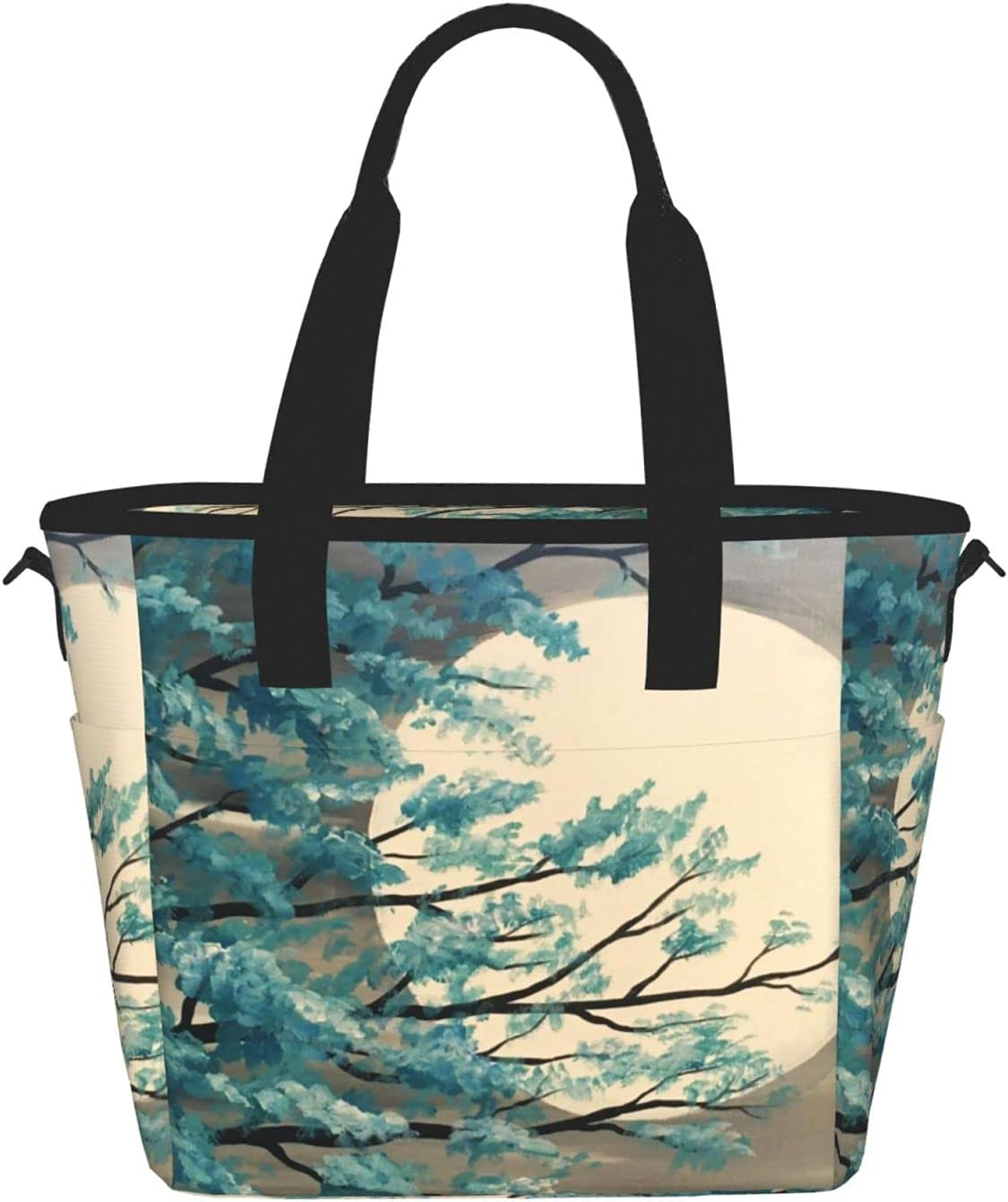 Tucson Mall Full Moon Reusable Insulated Tote OFFicial store Soft Container Lunch Food Bag