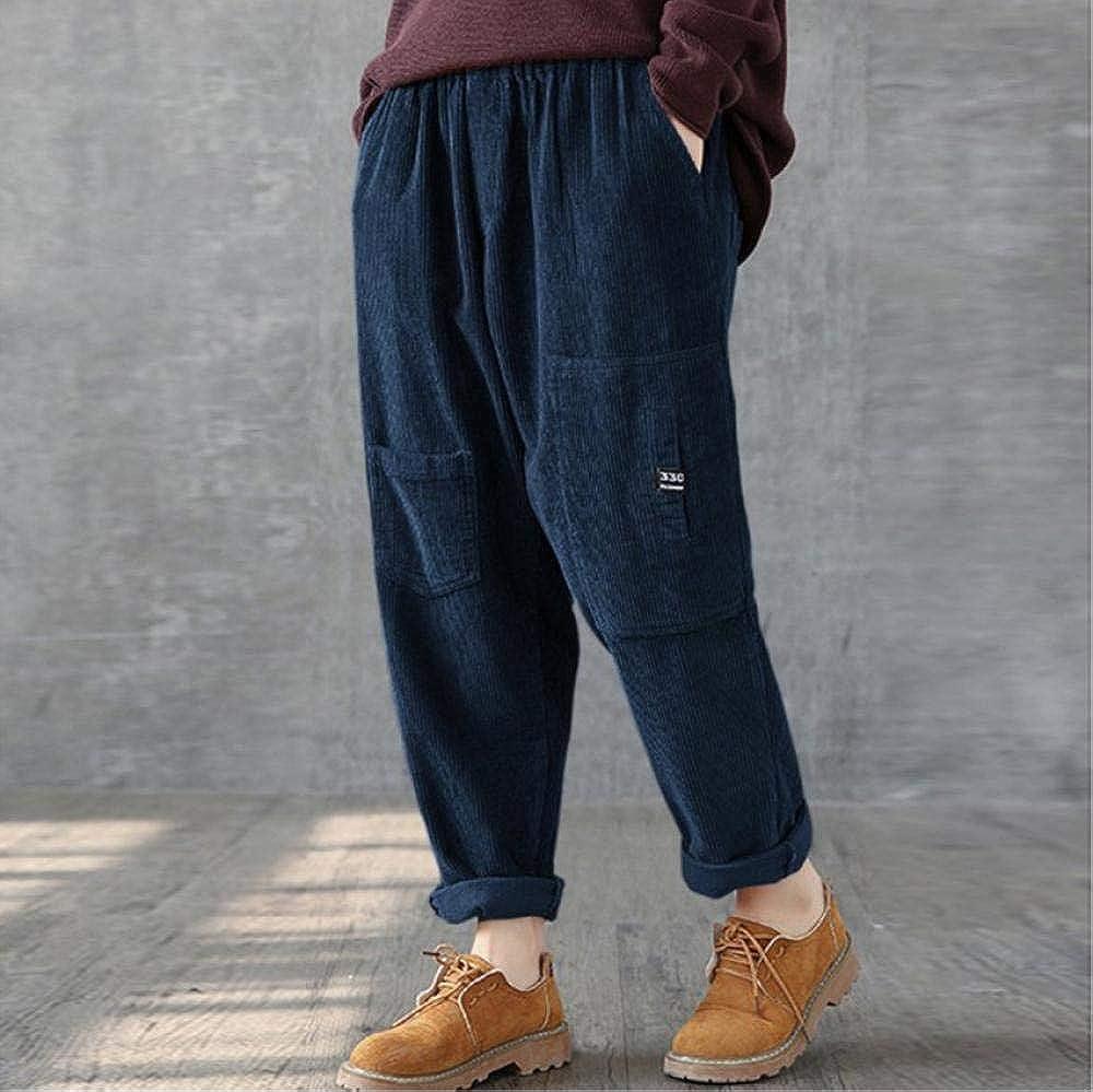 Meaeo Meilleure Vente De Produits pour Hommes De La Mode Bref Style Velours Côtelé Couleur Unie Sangles Occasionnels Pantalons Pantalons Nouvelle Mode Automne Hiver Blue
