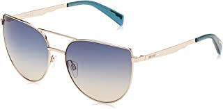 Just Cavalli Cat Eye Sunglasses for Women, JC829S-28P-58 Shiny Rose Gold/Gradient Green
